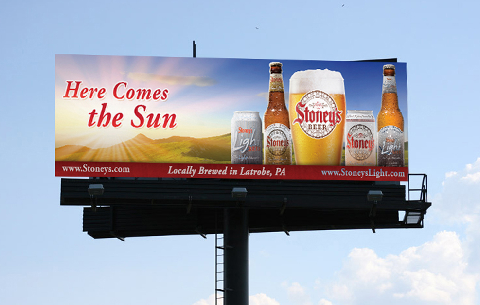 Stoney's Beer billboard